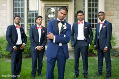 Indian groom with his groomsmen. http://www.maharaniweddings.com/gallery/photo/101071