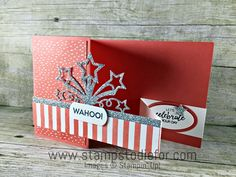 Fun Fold Card Birthday Blast stamp set by Stampin' Up! www.stampstodiefor.com 3
