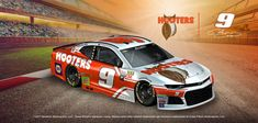 Hendrick Motorsports has already provided a look at what Chase Elliott's new No. 9 Chevrolet Camaro will look like in the 2018 Daytona Chase Elliott Nascar, Nascar Race Cars, Monster Energy Nascar, Motor Speedway, Vintage Race Car, Paint Schemes, Chevrolet Camaro, Bill Elliott, Daytona 500