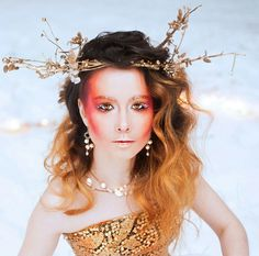 Snow, fire and gold. Winter fantasy fairytale photoshoot. Find more in my instagram account @nika_chequerwise