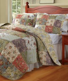Look what I found on #zulily! Blooming Prairie Quilt Set by Greenland Home Fashions #zulilyfinds