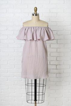Arcadia Ruffled Off-The-Shoulder Dress | #ruffledress #offtheshoulderdress #springtrends2017