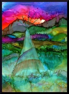 Ancient Grounds  Original done in Alcohol Inks on Yupo paper.    http://themysticdragonfly20.wix.com/mysticdragonfly