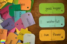 Compound Word Sort - perfect printable cards for introducing children to composite words   you clever monkey