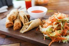 Egg Rolls, Mets, Fresh Rolls, Cabbage, Chicken, Vegetables, Ethnic Recipes, Food, Chinese
