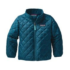 Lightweight and superwarm, the Patagonia Baby Nano Puff® Jacket is like a baby's favorite snuggly comforter, but with sleeves, pockets and a full-zip front.