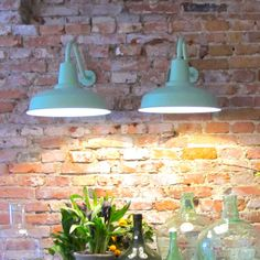 Applique murale d'extérieur en métal Barn Lamp Eleanor Home - Vert clair : Decoclico