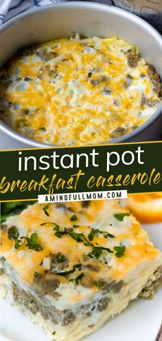 You should definitely add this quick and easy recipe to your breakfast food list! This Instant Pot Breakfast Casserole is a classic sausage breakfast casserole that has been modified for the pressure cooker. It is a tasty kid-friendly breakfast idea perfect for busy mornings. Save this pin! Easy Breakfast Casserole Recipes, Breakfast Casserole With Biscuits, Overnight Breakfast Casserole, Sausage Breakfast, Quick And Easy Breakfast, Quick Easy Meals, Kitchen Recipes, Cooking Recipes, Vegan Recipes Easy