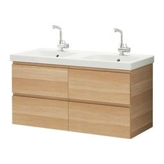 GODMORGON/ODENSVIK Meuble lavabo 4tir - effet chêne blanchi - IKEA 120x49x64