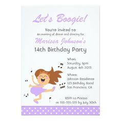 421 best dance birthday party invitations images on pinterest in