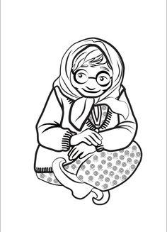 Saamelaiskäräjät - Sakaste hanke - Väritys- ja ompelukuvat Female, 3 Years, Montessori, Coloring, Crafts, Culture, Kunst, 3 Year Olds, Manualidades