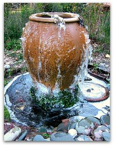 How to Make a Garden Fountain. The directions for this are very clear and really, very simple. Can't wait to try this next summer. Now, I just have to decide where it's gonna go...