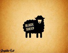 Black Sheep Vinyl Decal Social Deviant Vinyl Decal by GraphiksLab