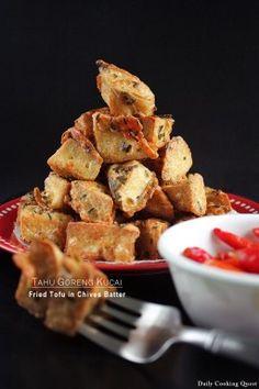 Tahu Goreng Kucai – Fried Tofu in Chives Batter