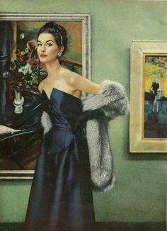 1950s evening wear.