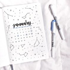 "1,678 Likes, 14 Comments - Notebook Therapy (@notebook_therapy) on Instagram: ""Good morning, I love this astronomy themed post from @letteringwithleni ✨ what's everyone's star…"""