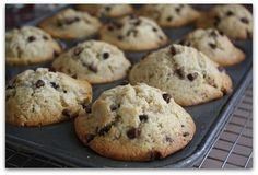 We make a lot of Banana Chocolate Chip Muffins around here. This is the fourth and BEST recipe I've tried.
