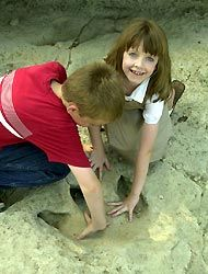 Dinosaur Valley State Park. Fossils, footprints and camping. Outside of Fort Worth in Glen Rose, TX.