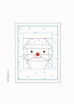"""всякие всякости...: Новогодняя гирлянда в технике """"paper piecing"""". Флажок третий"""