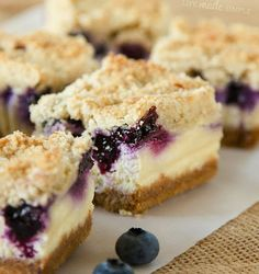 Blueberry Crumble Cheesecake Bars - Life Made Simple