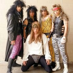 Totally 80's! This is so funny! I just realized this is the Backstreet Boys dressed up 80's style. Haha