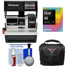 Descendants Costumes Impossible Polaroid 600 Square Instant Film Camera Silver with Instant Color Film Pack  Case  Kit Certified Refurbished ** ** AMAZON BEST BUY ** #InstantCamera Descendants Costumes, Instant Film Camera, Cool Things To Buy, Polaroid, Lens, Kit, Amazon, Silver, Color