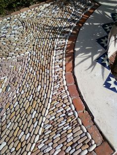 permeable paving - stone and brick patterns