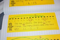 """Student created math journals for the entire year! These interactive math notebooks are a great way for Kindergarten, 1st grade, 2nd grade, 3rd grade, and 4th grade to practice math skills in an interactive way. These math notebooks cover number sense, addition and subtraction, graphing, shapes, money, word problems, and so much more! To learn more about """"All About Math Journaling"""", visit www.tunstallsteachingtidbits.com"""