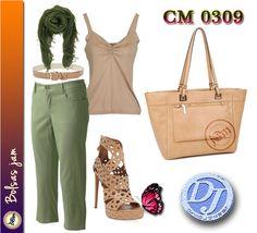 Bolsa Marca David Jones Modelo CM0309 Color Camel