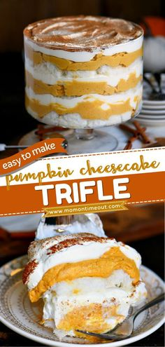 Keep this easy pumpkin recipe on hand for the holidays! With layers of pumpkin cheesecake, whipped cream, and angel food cake, this trifle is the perfect fall dessert for Thanksgiving. Gorgeous and…
