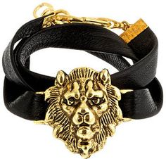 ddc07bc66 Alexandra Beth Designs Alexandra Beth Gold Lion Leather Bracelet - ShopStyle  Women
