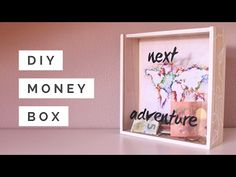 Heres a creative idea to save money for your dream. Make a fund for a trip, a house, a honeymoon, a car, etc. I created a travel fund to save up for my next adventure. Let nothing stand between you and your dream. Make your dream come Savings Shadow Box, Savings Box, Money Frame, Marco Ikea, Cadre Diy, Personalised Money Box, Money Saving Box, Travel Fund, Diy Shadow Box