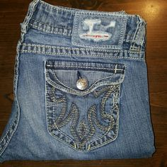 MEK Jeans by Buckle These are MEK Jeans by Buckle.  The style is Chicago Boot Cut.  They are size 30 with a length of 34.  They are in very good condition with almost no fray anywhere.  Noce denim, nice stitch, nice jeans, nice price, ) MEK Jeans Boot Cut