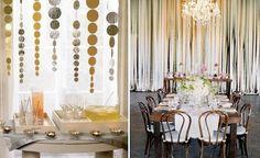 Gold & Silver paper decor ideas