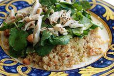 Simplesmente Delícia » Salada de Quinoa com Agrião e Frango