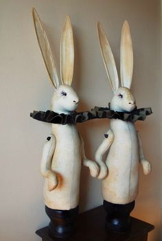 Bunnies with ruffle by Mr Finch.