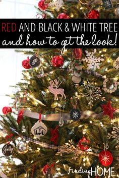 Red, Black, White Tree & How To Get The Look