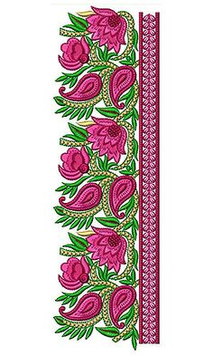 Latest Embroidery Designs, Border Embroidery Designs, Hand Embroidery Art, Couture Embroidery, Embroidery Stitches, Embroidery Patterns, Machine Embroidery, Hand Work Blouse Design, Textile Patterns