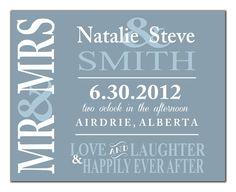 PERSONALIZED WEDDING PRINT - You Choose Custom Colours - Use Wedding Colours - Makes a Great Wedding Gift. $12.00, via Etsy.