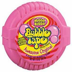 80s food - Bubble Tape!  Ohhhh we could eat a whole role of this in one day.  Couldn't feel our teeth afterwards...but darn was it good.  AmericasFootprints.com