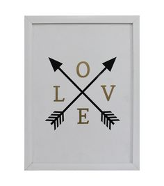 Valentine's Day Framed Wall Decor-Love Arrows