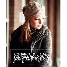 Promise me that u will hold on to hope and keep it alive ❤️❤️