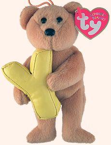 Y - Alphabet Bear - Beanie Babies