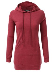 JJ Perfection Womens Raglan Long Sleeve French Terry Tunic Top Hoodie *** This is an Amazon Affiliate link. Click image to review more details.