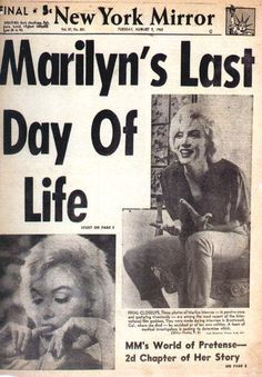 Marilyn Monroe Follow Marilyn's life in pictures at https://au.pinterest.com/rmarkovics/