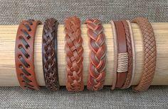 Herren-Leder-Armband-Set oder Damen Leder-Armband-Set 6