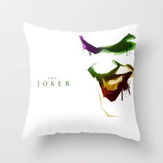 The Joker Throw Pillow by Chad Madden - $20.00