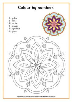 Rangoli Colour by Number 1