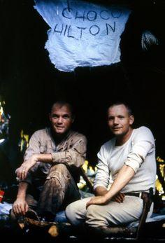 John Glenn and Neil Armstong, jungle survival training