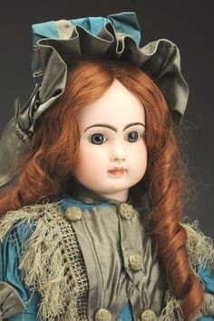 made by Jules Steiner Old Dolls, Antique Dolls, Vintage Dolls, Doll Toys, Baby Dolls, Children's Toys, Doll Costume, Bisque Doll, Collector Dolls